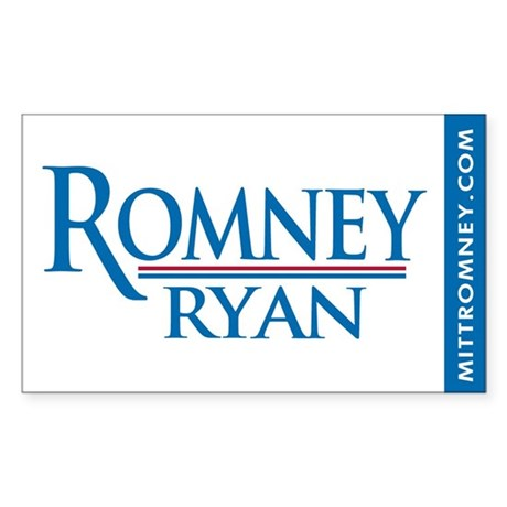 Romney - Ryan '12 Sticker (Rectangle 50 pk)