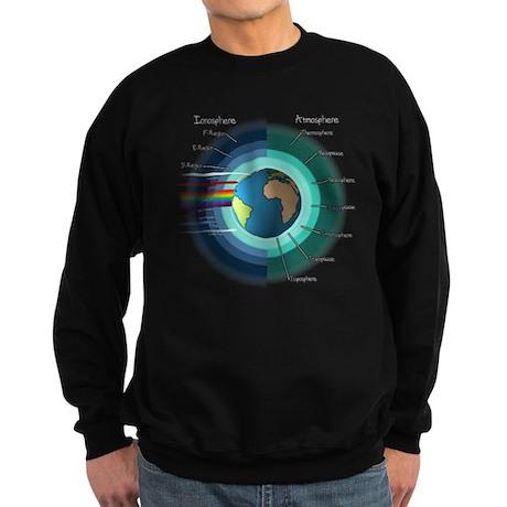 Earths atmosphere and Ionosphere Sweatshirt (dark)