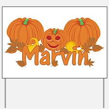 Halloween Pumpkin Marvin Yard Sign