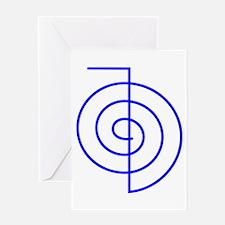 Cho Ku Rei (blue) Greeting Card