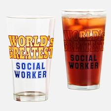 World's Greatest Social Worker Drinking Glass