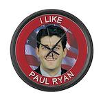 I Like Paul Ryan Large Wall Clock