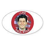 I Like Paul Ryan Sticker (Oval 50 pk)