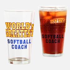 World's Greatest Softball Coach Drinking Glass