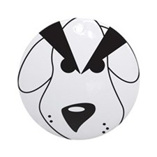 Peeved Puppy Ornament (Round)