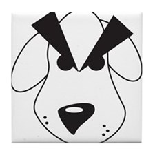Peeved Puppy Tile Coaster