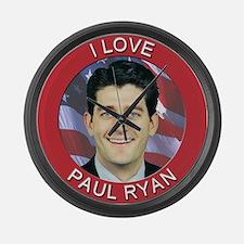 I Love Paul Ryan Large Wall Clock