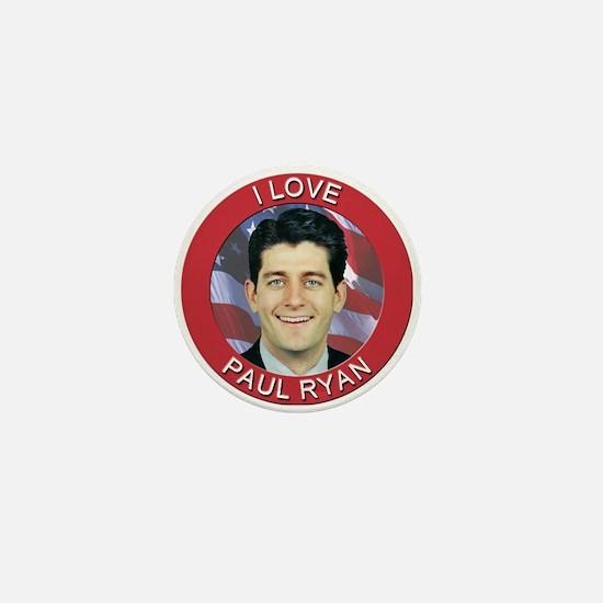 I Love Paul Ryan Mini Button