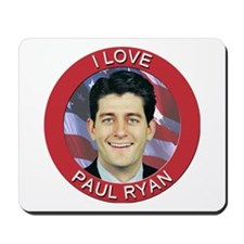 I Love Paul Ryan Mousepad