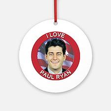 I Love Paul Ryan Ornament (Round)