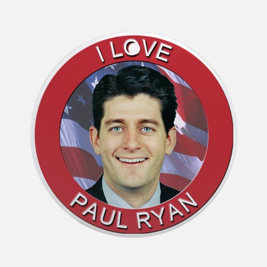 I Love Paul Ryan Ornament (Round)