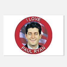 I Love Paul Ryan Postcards (Package of 8)