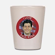 I Love Paul Ryan Shot Glass