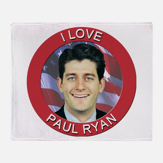 I Love Paul Ryan Throw Blanket