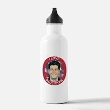 I Love Paul Ryan Water Bottle