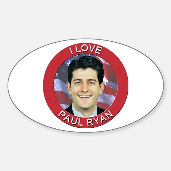 I Love Paul Ryan Sticker (Oval)