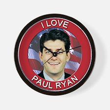 I Love Paul Ryan Wall Clock