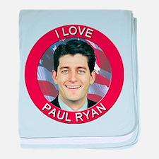 I Love Paul Ryan baby blanket