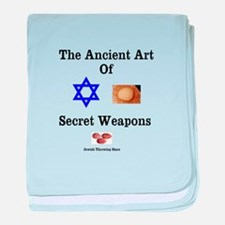 Jewish Martial Arts baby blanket