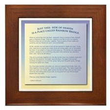 Rainbow Bridge Pet Sympathy Framed Tile