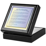 Rainbow bridge poem Square Keepsake Boxes