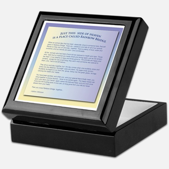 Rainbow Bridge Pet Sympathy Keepsake Box