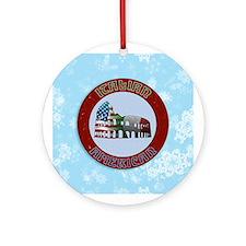 Italian American Coliseum Ornament (Round)