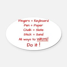 Ways to Write - Red Oval Car Magnet