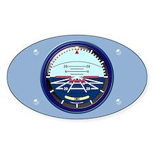 Art Horizon (blue) Oval Decal