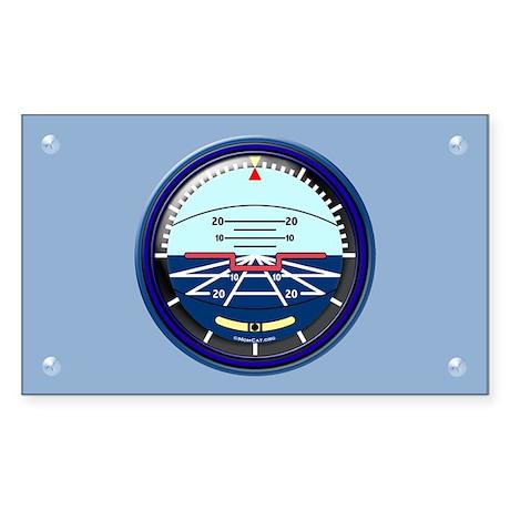 Art Horizon (blue) Rectangle Sticker