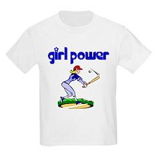 Girl Power Baseball Kids T-Shirt