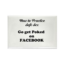 FB Pokes Rectangle Magnet