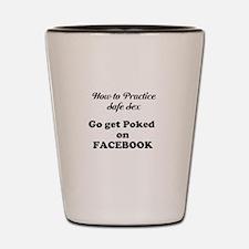 FB Pokes Shot Glass