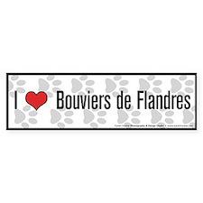 I (heart) Bouviers de Flandres Bumper Bumper Sticker
