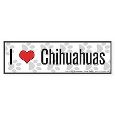 I (heart) Chihuahuas Bumper Bumper Bumper Sticker