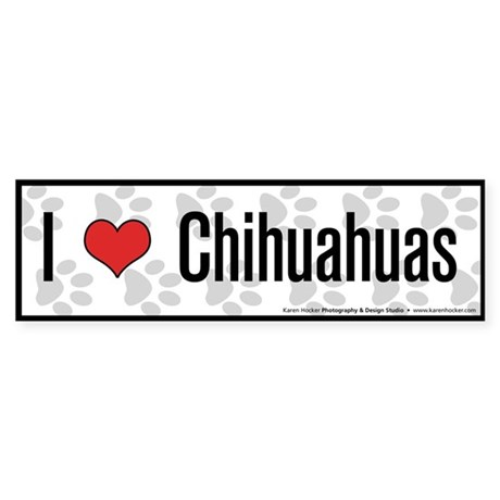 I (heart) Chihuahuas Bumper Sticker