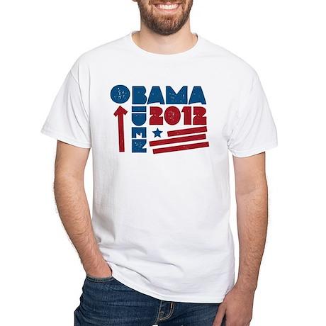 Obama-Biden White T-Shirt