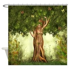 Mother Nature Tree Shower Curtain