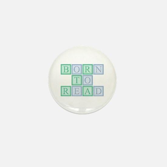 Born to Read Green Mini Button