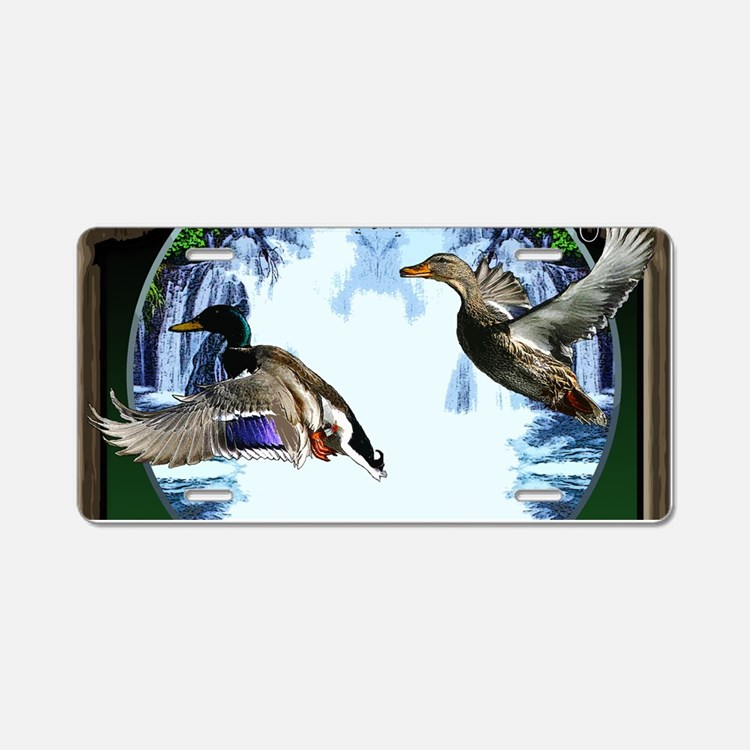 Duck hunter Aluminum License Plate