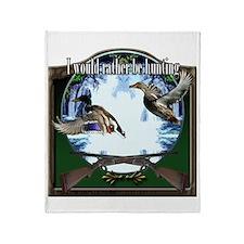 Duck hunter Throw Blanket