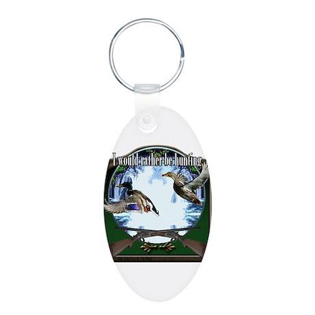 Duck hunter Aluminum Oval Keychain