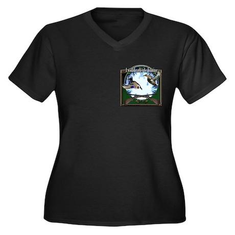 Duck hunter Women's Plus Size V-Neck Dark T-Shirt