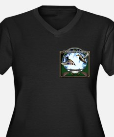 Duck hunter Women's Plus Size V-Neck Dark T-Shirt