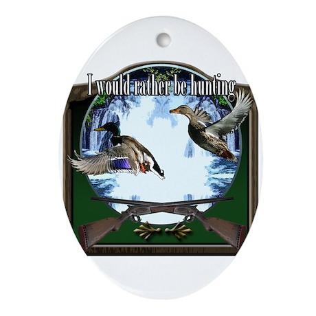 Duck hunter Ornament (Oval)
