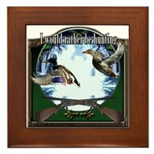 Duck hunter Framed Tile