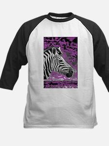 zebra with purple background Tee