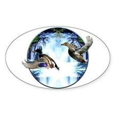 Mallards in flight Decal