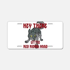 Hey there-Wolf1 Aluminum License Plate