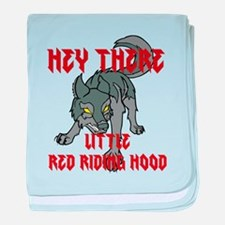 Hey there-Wolf1 baby blanket